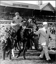 Hill Gail - Trainer Ben A. Jones had his third Derby winner in five years with Hill Gail in Cowgirl And Horse, Horse Love, All The Pretty Horses, Beautiful Horses, Simply Beautiful, Calumet Farm, Triple Crown Winners, Derby Winners, Sport Of Kings
