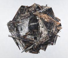 Seth Clark creates collages of deteriorating architecture