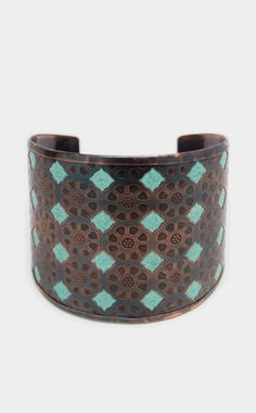 Gorgeous turquoise embellished cuff.