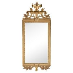 Check out this item at One Kings Lane! Early-20th-C. Gustavian-Style Mirror