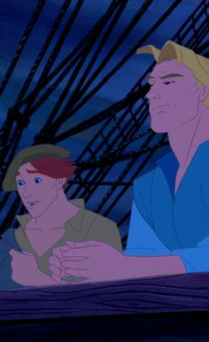"John Smith (Mel Gibson) and Thomas (Christian Bale) from ""Pocahontas"""