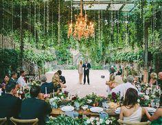 Bride + Groom Wedding Speach at Garden Reception - Enchanted Maui Wedding at Haiku Mill - Inspired by This