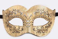 Leather Style Mardi Gras Mask