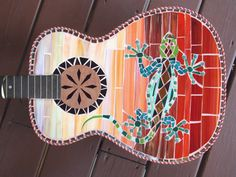 TEQUILAS SUNRISE MOSAIC Guitar by racman on Etsy, $550.00