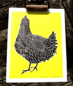 Your place to buy and sell all things handmade Textile Prints, Art Prints, Linoleum Block Printing, Etching Prints, Ink Pen Drawings, Linoprint, Chicken Art, Lino Cuts, Screenprinting