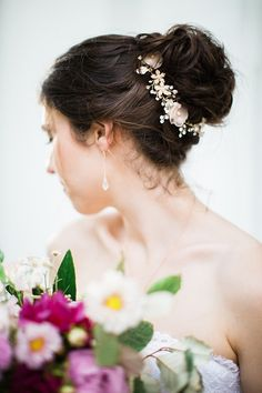 wedding updo | Casto Photography & Cinema | Glamour & Grace