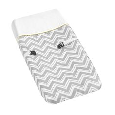 @Overstock.com - The Zig Zag changing pad cover was designed to coordinate with nursery bedding sets from Sweet Jojo Designs. This charming changing pad cover offers a cotton construction with a yellow and grey color palette.http://www.overstock.com/Baby/Sweet-JoJo-Designs-Yellow-and-Grey-Zig-Zag-Changing-Pad-Cover/7588197/product.html?CID=214117 $26.99