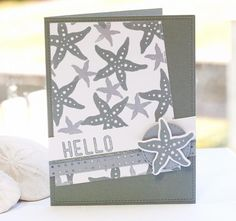 Silver Starfish Hello  can use any stamp theme with two sizes of subject