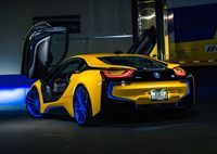 Turner Motorsport's new BMW i8 project is already equipped with a set of H&R Special Springs, LP. sport lowering springs, camber adjustment arms (for more negative camber on the front wheels), and a set of 21-inch Forgeline one piece forged monoblock AR1 wheels finished in Matte Transparent Blue. See more at: http://www.forgeline.com/customer_gallery_view.php?cvk=1349  #Forgeline #forged #monoblock #AR1 #notjustanotherprettywheel #madeinUSA #BMW #i8 #hybrid