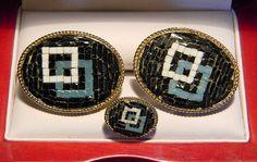 RARE Original Vintage SWANK Italian Mini-Mosaic by CremedelaCuff