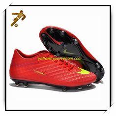 New Nike Hypervenoms Phantom FG Red Yellow Diadora Forza Tf Soccer Shoes  Найк Футбол, Красный ffe8560023a