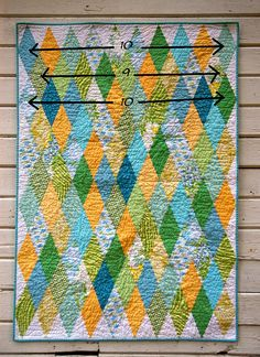 Diamond Quilt tutorial by urban.patchwork, via Flickr
