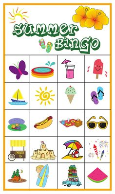 Your family will love this fun summer bingo game! Printable games are perfect for keeping kids off devices and you can't go wrong with bingo games for kids. Bingo Games Free, Bingo Games For Kids, Printable Games For Kids, Preschool Activities, Kids Games Free, Camping Activities, Kids Games For Girls, Online Games For Kids, Free Printable Bingo Cards