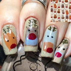 My belated Reindeer #mani for #glamnailschallengedec This was inspired by an image I found on Google. My base is Polish 'M A Bit Corny & then I used a ton of other indies for the reindeers. #Gurlynailz #nailart #nailartwow #nailartaddict #nailartdesign #nailartpromote #nailartclub #nailartaddiction #nailartoohlala #nailartist #nailartjunkie #nail #nails #uñas #unhas #ongles #nailpromote #indieswatch #nailcommunity #nails2inspire #nails4yummies #nag_repost #allaboutnails #nailitdaily #polishm