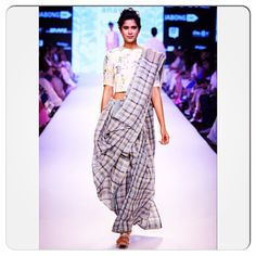 Image result for gingham sari