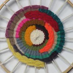 Halfway point! - love all the colours #weaving #woven #wovenwallhanging #loom #ontheloom #etsy #etsyshop #etsyseller #home #homegoods #instahome #ireland #gift #gifts #handmade #handcraft #craft #art #artist
