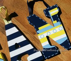 Hand Painted Letters Oceanside Nautical Theme by MyKiddieKreations, $12.00