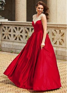 Charming A-line Prom Dress,Cap Sleeves Evening Dress,Back Beading Formal Dress,303