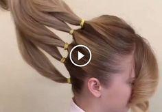 Separó su cabello en 5 secciones para crear algo re almente hermoso! Trending Hairstyles, Latest Hairstyles, Cool Hairstyles, Hairstyle Ideas, Pinterest Hair, Box Braids Hairstyles, Ponytail Hairstyles Tutorial, Hair Videos, Hair Hacks
