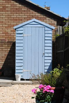 Fantastic Free blue garden shed Concepts Lawn garden storage sheds include numerous works by using, like storing house mess along with garden routine m. Painted Garden Sheds, Painted Shed, Mary Poppins, Shed Paint Colours, Farming, Allotment Shed, Blue Shed, Cuprinol Garden Shades, Coastal Gardens