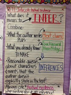 Life in 4B...: RL.7.1 - Make Inferences, Cite Textual Evidence: