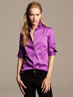 Fitted Non-Iron Sateen Shirt Product Image