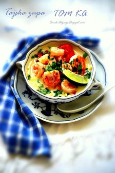 Blog kulinarno fotograficzny Tom Ka Soup, Ratatouille, Food Inspiration, Thai Red Curry, Soup Recipes, Food Photography, Vegetables, Eat, Ethnic Recipes