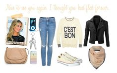 Nice to see you again. I thought you had fled forever. by cadylin on Polyvore featuring Mode, Madewell, Doublju, Topshop, Converse, MANGO, Armani Jeans and Kristin Cavallari