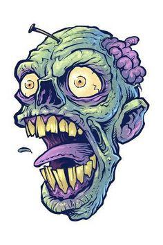 Giclee Print: by FlyLand Designs : Graffiti Doodles, Graffiti Drawing, Graffiti Lettering, Zombie Drawings, Demon Drawings, Art Drawings, Arte Zombie, Zombie Art, Zombie Tattoos