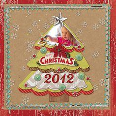 Merry Christmas 2012 - Scrapbook.com  Cute and simple idea!