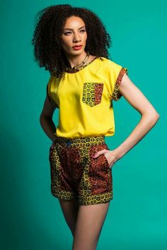 Ankara Shorts to Rock this September by our African Beauty Queens - WearitAfrica African Fashion Designers, African Inspired Fashion, African Print Fashion, Africa Fashion, African Print Skirt, African Print Dresses, African Fashion Dresses, African Shirt Dress, Ankara Fashion