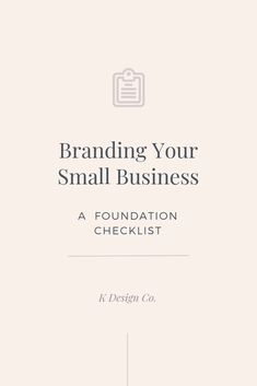Entrepreneur Inspiration Discover Branding Your Small Business: A Foundation Checklist Explore these 5 crucial components to branding your small business before addressing the visual aspects. Youll thank yourself later and look like a pro. Social Media Branding, Personal Branding, Branding Your Business, Small Business Marketing, Creative Business, Business Tips, Online Business, Business Logos, Business Planner