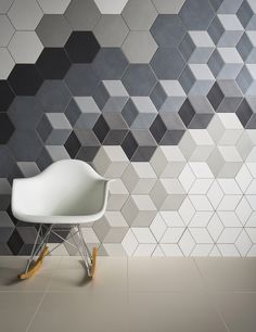 H A B I T A N 2 Decoración handmade para hogar y eventos www.habitan2.com  Love hexagonal tiles and baby block pattern!