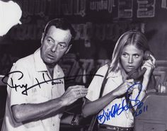 JAMES BOND GIRL BRITT EKLAND & DIRECTOR GUY HAMILTON AUTOGRAPHED PHOTO