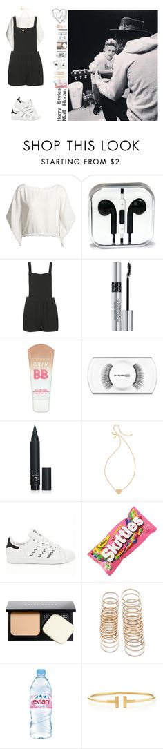 """""""Learn guitar w/ Niall and Harry"""" by dreamofjess ❤ liked on Polyvore featuring Topshop, Christian Dior, Maybelline, MAC Cosmetics, Fujifilm, Kate Spade, adidas, Bobbi Brown Cosmetics, Forever 21 and Evian"""