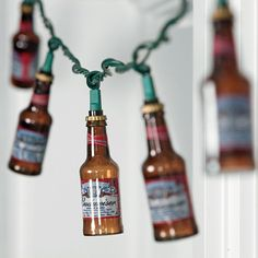 Budweiser Bottle Party Lights...college dorm appropriate ONLY!!!