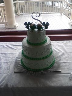 St.Patrick's Day wedding cake