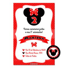 Convite Digital Minnie Vermelha II – 4Party Papelaria Personalizada e Kit Festa