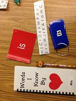 You send a ring of sight words home to your students every night for them to practice. Then once they know the words they go in a booklet.