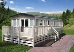 Clean Mobile Home Steps And Decks Exterior Area Summer
