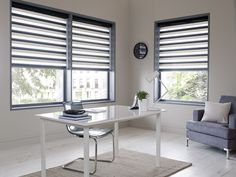 Made to measure Sheer Horizon Blinds For Your Office Windows   Illumin8 Blinds   Eryn in Blue Colour