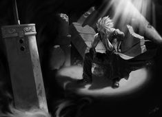 On hallowed ground . Cloud from final fantasy vii Final Fantasy Cloud, Fantasy Series, Cloud And Tifa, Cloud Strife, Tidus And Yuna, Video Game Art, Video Games, Anime Guys, Finals