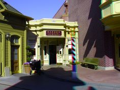 "Main Street Barber Shop - Enter ""anaglyph glasses"" in your search engine to order 3D glasses to view in 3D!"