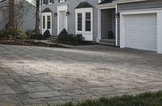 There's a reason why plank pavers are trendier than ever before. Inspired by the clean lines of modern design trends, new Agilina™ Plank is a marriage of old-world aesthetics and contemporary lines. Driveway Design, Patio Design, Driveway Pavers, Driveway Ideas, Stone Walkway, Stone Path, Outdoor Life, Outdoor Living, Outdoor Decor