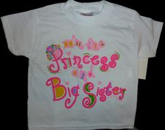 Princess and Big Sister Shirt
