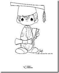 Graduation Precious Moments Coloring Pages