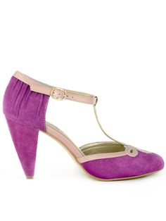 "Seychelles ""All Dressed Up"" in Plum Suede"