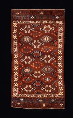 Main carpet, 17th–18th century  Central Asia, Iran or Turkmenistan, Turkmen people, proto-Yomut     Wool; knotted pile (symmetrical knot)  308.6 x 165.7 cm (121 1/2 x 65 1/4 in.)  Gift of George and Marie Hecksher   2001.173
