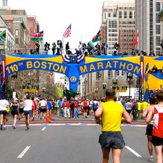 Boston Marathon Finish Line.  From Hopkinton to Boston, MA, starting along Rte. 135.  This will be a special run in 2014.