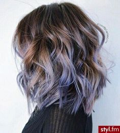 Purple Ombre Hair Color Ideas Lob Haircut with Tick Hair - Trendy Hair Color Designs for women and Girs!Lob Haircut with Tick Hair - Trendy Hair Color Designs for women and Girs! Purple Balayage, Hair Color Balayage, Brown Balayage, Haircolor, Blonde Balayage, Short Hair With Balayage, Pastel Purple Hair, Purple Ombre Hair Short, Purple Hair